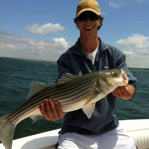 Cape Cod Bay Outfitters charter fishing on Cape Cod Bay